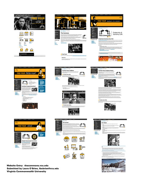 First: The Commons VCU New Website; Virginia Commonwealth University