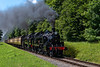 Ivatt No. 41312 and Std Tank No. 80078 climbing away from Ropley <br /> with the 11:45 Alresford - Alton, on 2nd July 2017.
