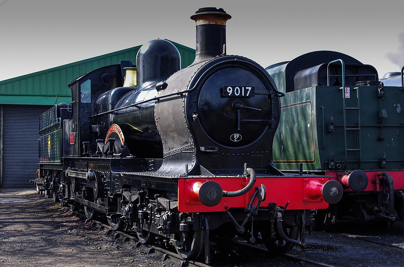 """9017 """"Earl of Berkeley"""" in the yard at Ropley, the day before the Gala, 24th March 2011."""