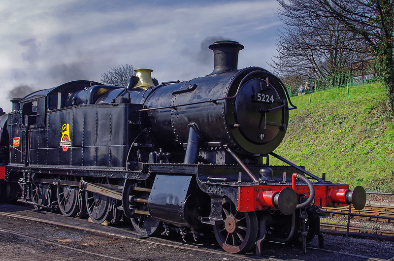 GW 2-8-0T 5224 in the yard at Ropley, the day before the Gala, 24th March 2011.