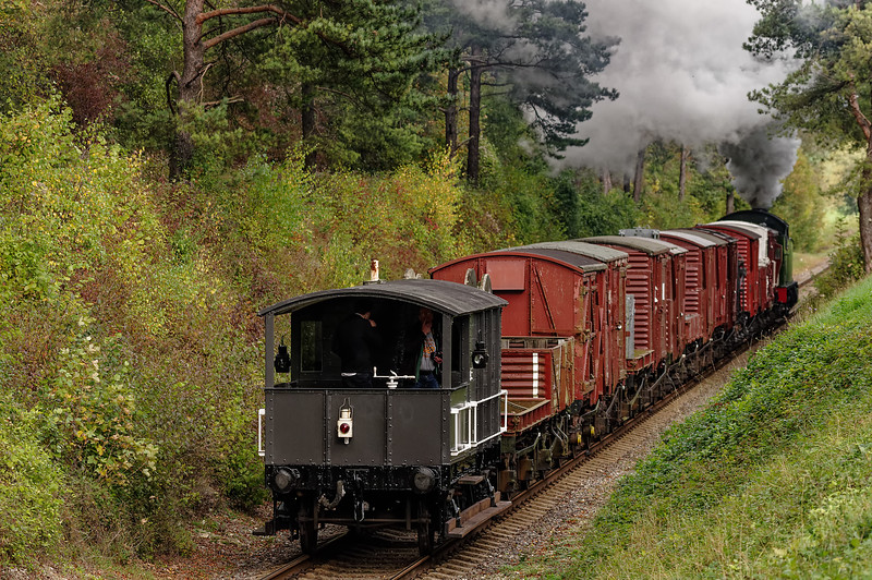 4270 going away with the 13:00 Alresford - Alton Freight, on 26th October 2014.