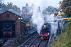 Ivatt class 4 No. 43106 waiting to depart from Ropley with the 09:15 Ropley - Alton, <br /> on 22nd October 2016.