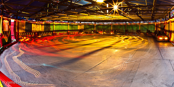 Long exposure at the dodgems