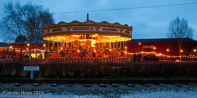 Colourful Gallopers lit up