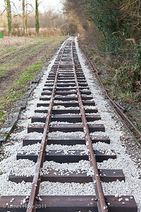 The track is now ballasted and just needs a sweep to tidy it up