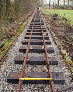 Ensuring the correct gauge - this is the Nursery Line, so it's 2 feet between the rails here