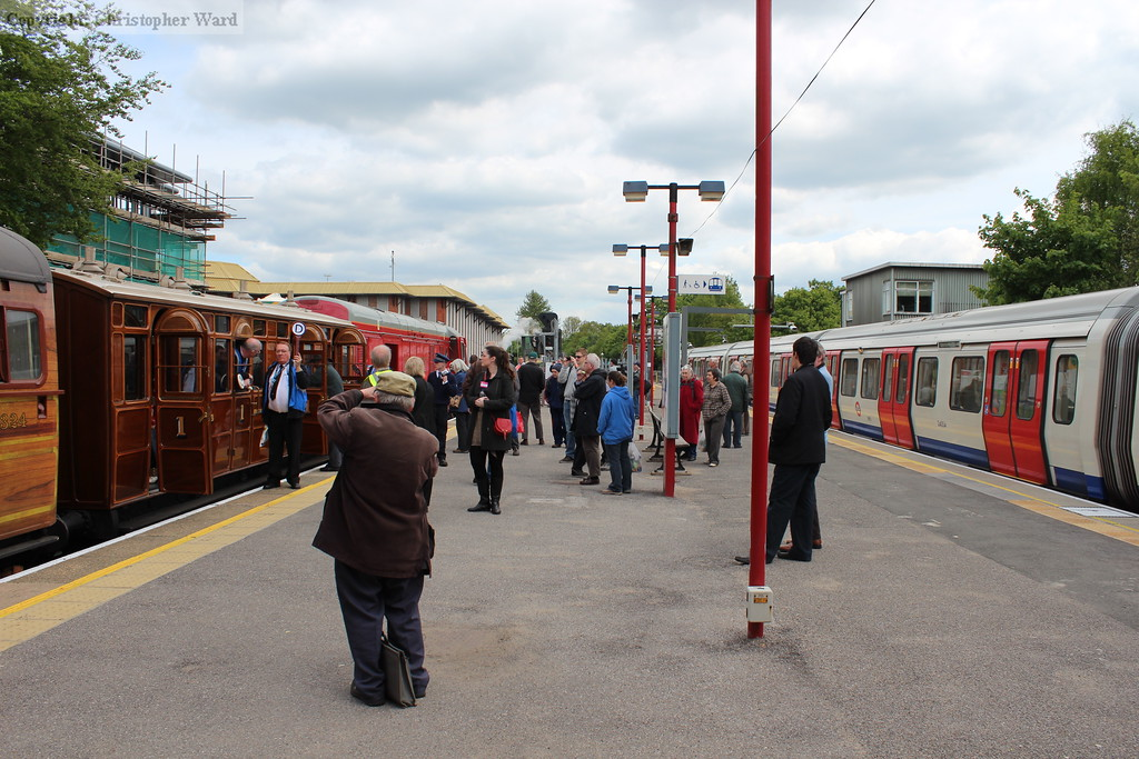 Metropolitan stock of very different eras compared at Amersham