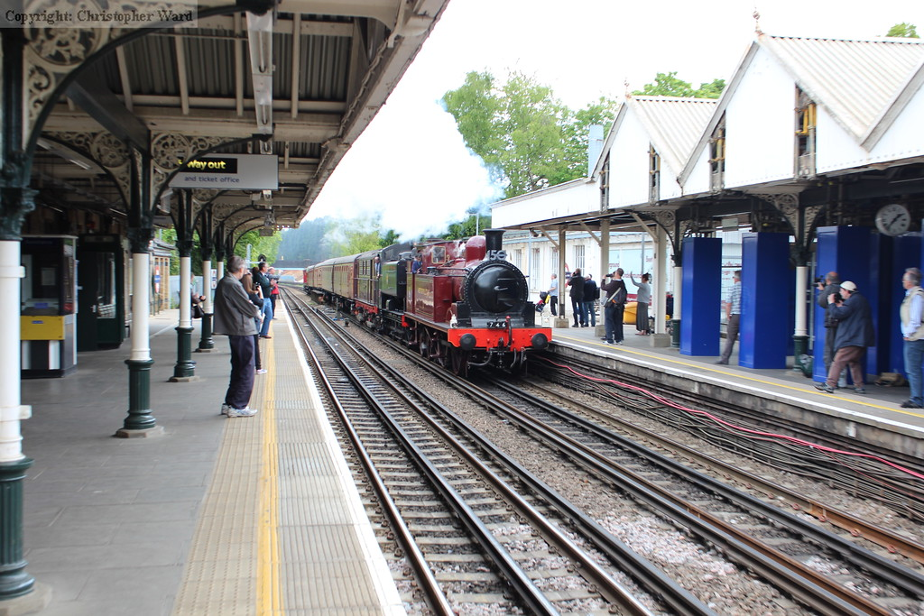 The tank engines charge through Chalfont and Latimer at speed
