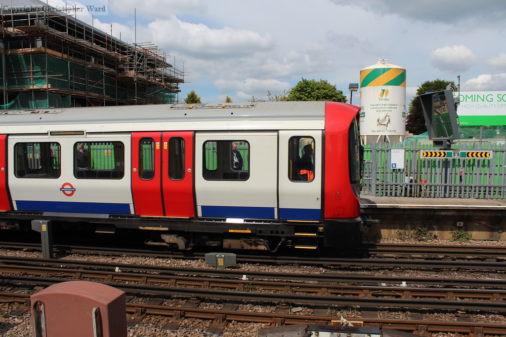 A Metropolitan Line train prepares to head back into central London