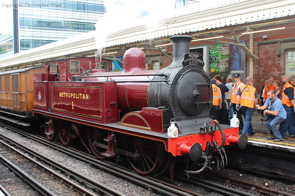 The veteran tank back at Hammersmith for the final run of the day back to Moorgate