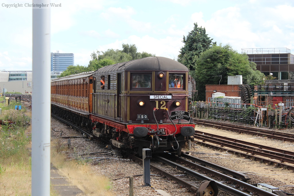 Sarah Siddons brings the consist back through Acton Town on the return to Northfields