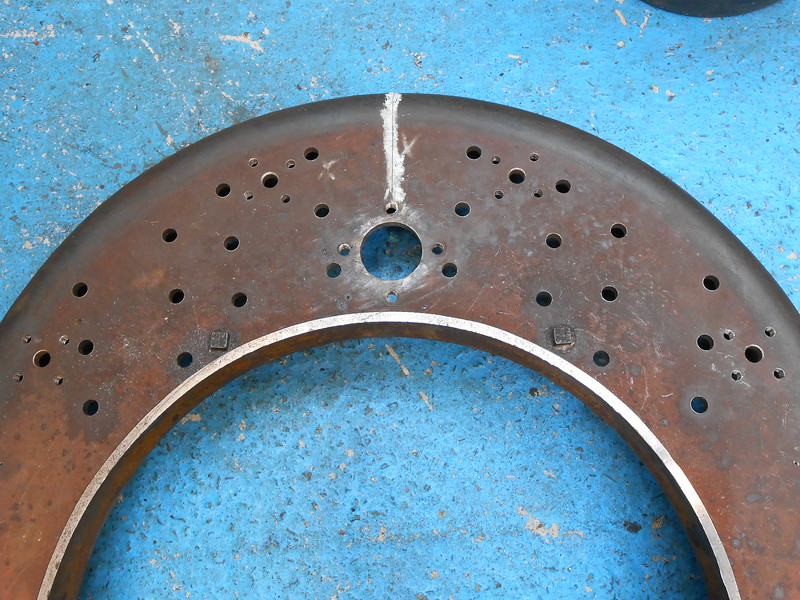 Close up of the Holes <br /> <br /> Later on we fitted this ring onto the outer Firebox Ring