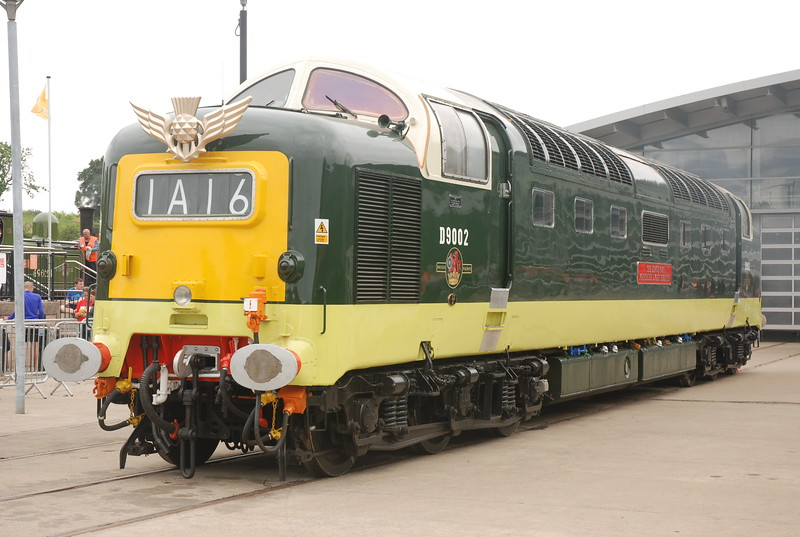 "Deltic <br /> <br /> D9002 <br /> <br /> info about Deltic's below <br /> <br /> <a href=""https://en.wikipedia.org/wiki/British_Rail_Class_55"">https://en.wikipedia.org/wiki/British_Rail_Class_55</a>"