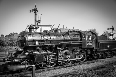Moving steam locomotive