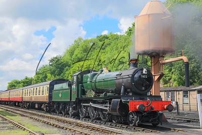 Steam train in sunshine