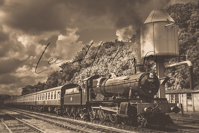 Vintage Locomotive in sepia (ref: SR20)