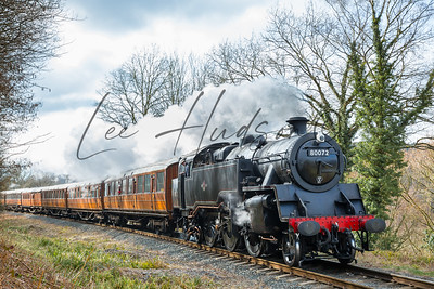 Steam train in Spring sunshine