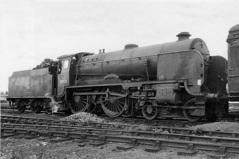 Sept 1961:  30935 Sevenoaks at Nine Elms