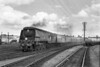 28th Aug 1964:  Arriving at Yeovil Junction is 34002 'Salisbury' with a Waterloo to Plymouth service