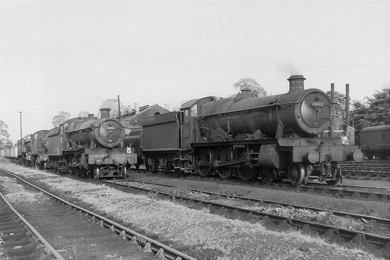 Aug 1964:  4932 Hatherton Hall and 6817 Frankton Grange at Westbury