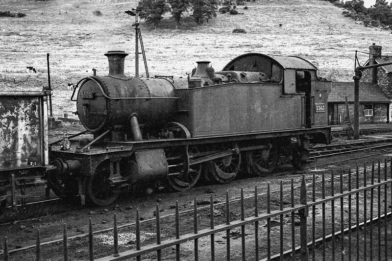 28th Aug 1964:  With the light failing 5563 is on the shed ay Yeovil Town.  It was not in steam.