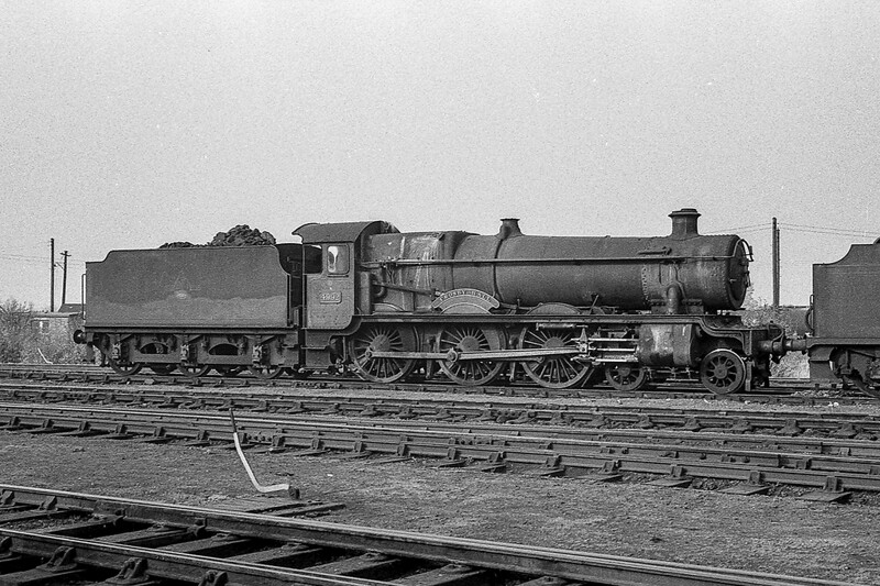 January 1965: In February it would become 34 years old 4992 'Crosby Hall is on Westbury Shed
