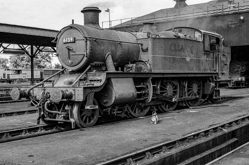June 1964:  6139 on shed at Southall