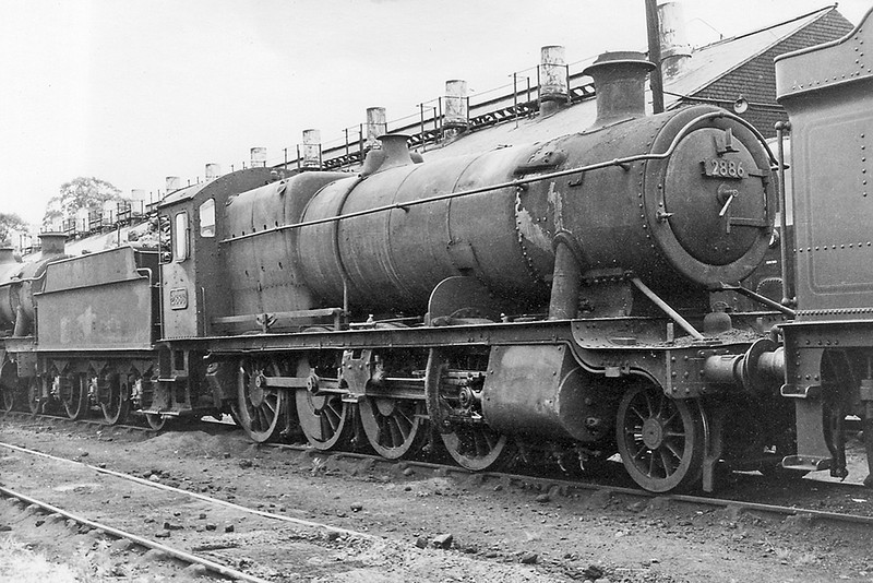 Sept 64: 2884 stands beside Westbury Shed