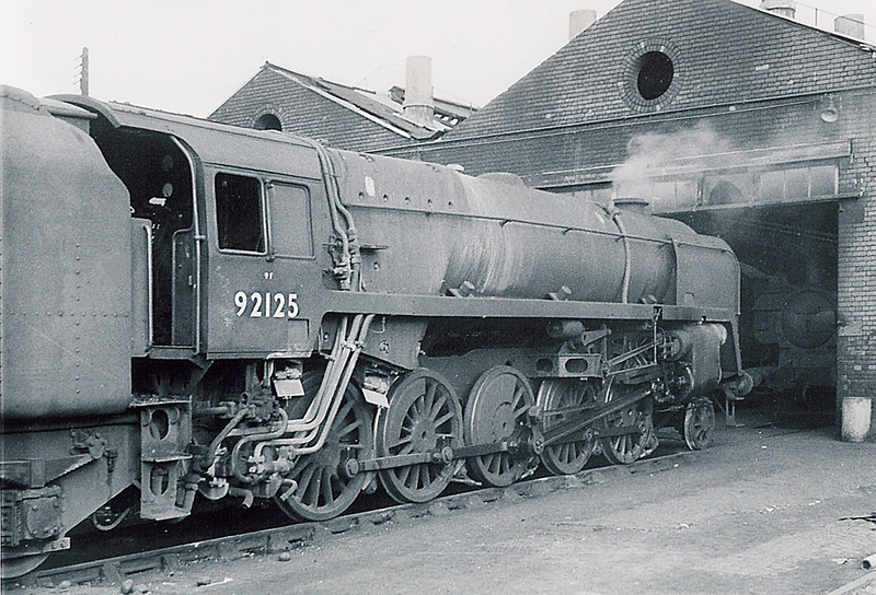92125  Westbury.  The 9F's were shedded here after the closure of the DN & S line to work Fawley to Bromford Bridge oil traffic