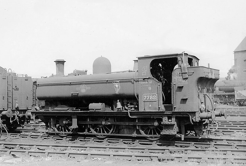 Sep 64:  7782 on Weymouth shed in 1964.  Note the bell for working the harbour branch