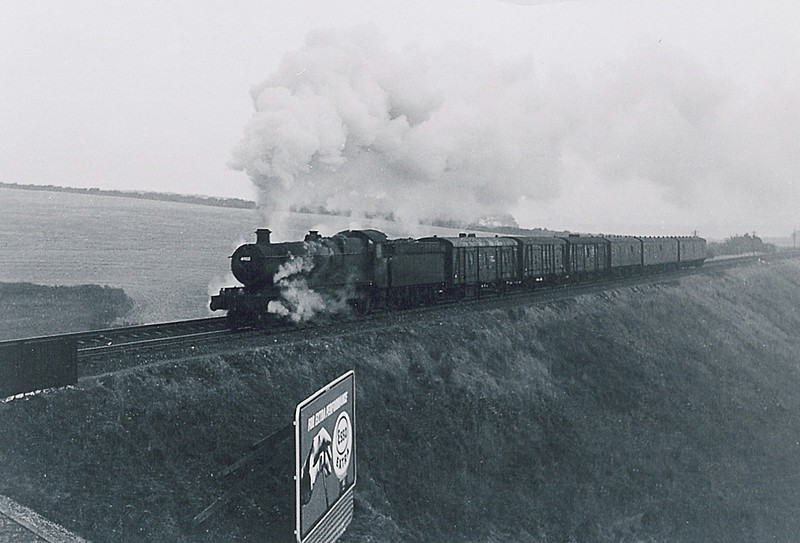 A run down Hall battles up the climb to Bincombe Tunnel in the cool late evening air.1963