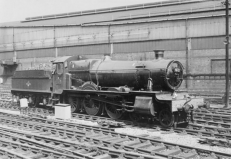 Ex Works 7812 backs out of Paddington.  1963