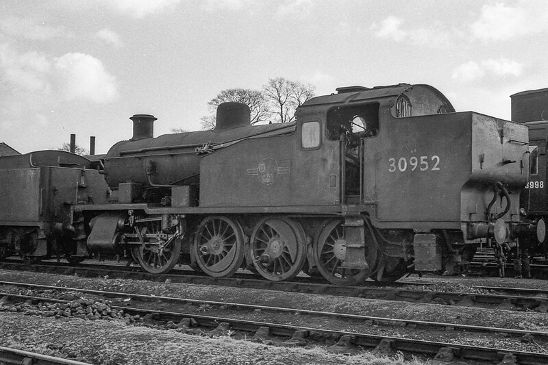 January 1965:  This is my only picture of a Maunsel Class Z shunter.  30952 is at Westbury while on it's way to be cut up.  A shame that none of them have survived.