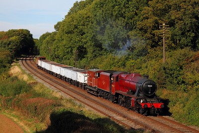 48624 9C28 1400 Loughborough to Rothley Brook at Kinchley Lane on the 6th October 2013