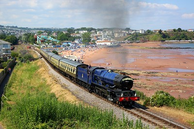 6023 on the 1500 Paignton to Kingswear at Goodrington on the 15th July 2018