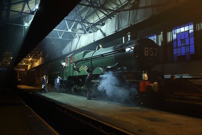 4079 Pendennis Castle with B57 headcode at Didcot Railway Centre on the 24th March 2018 IMG9218
