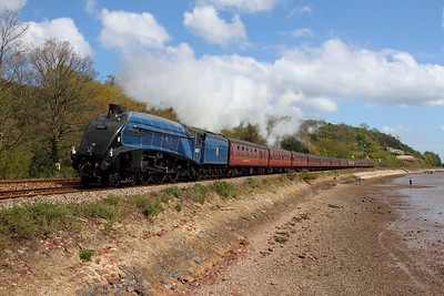60007 on the 1Z32 Guildford to Kingswear at Bishopsteignton on the 19th April 2014