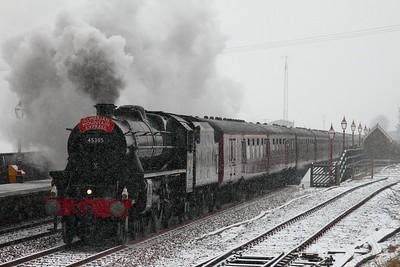 45305 Ribblehead 1Z87 1106 Preston to Carlisle on the 5th February 2012