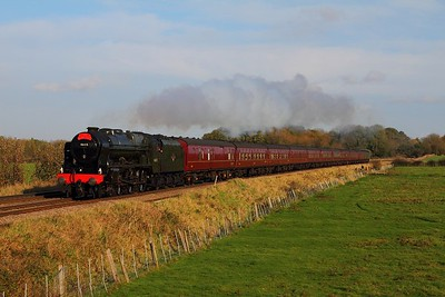46115 on the 1Z46 0938 St Pancras to Lincoln Central at Rearsby on the 9th November 2014