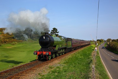 LNER B12 No  8572 works the 1535 Sheringham to Holt away from Sheringham on the 21st April 2018