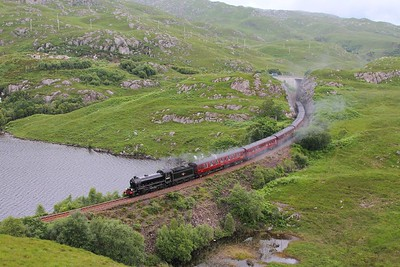 62005 on the 2Y61 Fort William to Mallaig at Loch Dubh on the 21st June 2014