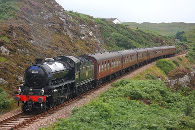 62005 Mallaig on 2Y61 Fort William to Mallaig Jacobite on 8th August 2009