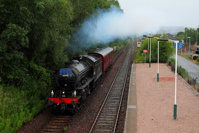 62005 on the 5Z26 Fort William to Joppa arriving Spean Bridge on the 5th August 2012