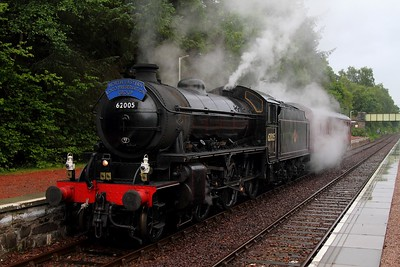 62005 on the 5Z26 Fort William to Joppa at Spean Bridge on the 5th August 2012