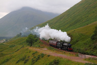 62005 on the 5Z26 Fort William to Joppa descending County March Summit on the 5th August 2012