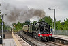 27th Jun 2021:  On another dull and wet Sunday morning 46100 'Royal Scot' is working very hard up the grade away from Bradford Junction and through Trowbrisge station..  It is working 1Z27   the 'English Riviera' from Bristol Temple Meads to Kinswear.  Hopefully the next time that it runs there woll be some sunshine !
