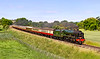 """16th Jun 2021:  """"Steam At Last"""". At Little Langford storming along the Wylye Valley is 46100 'Royal Scot' that is working a Saphos railtour from Wolverhampton to Portsmouth Harbour.  On the rear is 47593 that is working  the out and back legs between Wolverhampton and Bristol Temple Meads  and the reversing moves at Portsmouth."""