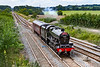 2nd Aug 2021:  After it's week end excursion into Cornwall LMS Jubilee Class 4-6-0. 45596 'Bahamas' is heading back to Southall from Bishops Lydeard.  6Z91 started out at 11.52 but is 5 minutes late when pictured. on Fairwood Junction.  Had it been on time it would havebeen in full sun,  Ah well next time perhaps.