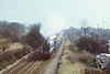 16th Mar 86:  The Shakespear Express with 4498 Sir Nigel Gresley in charge at West Wycombe