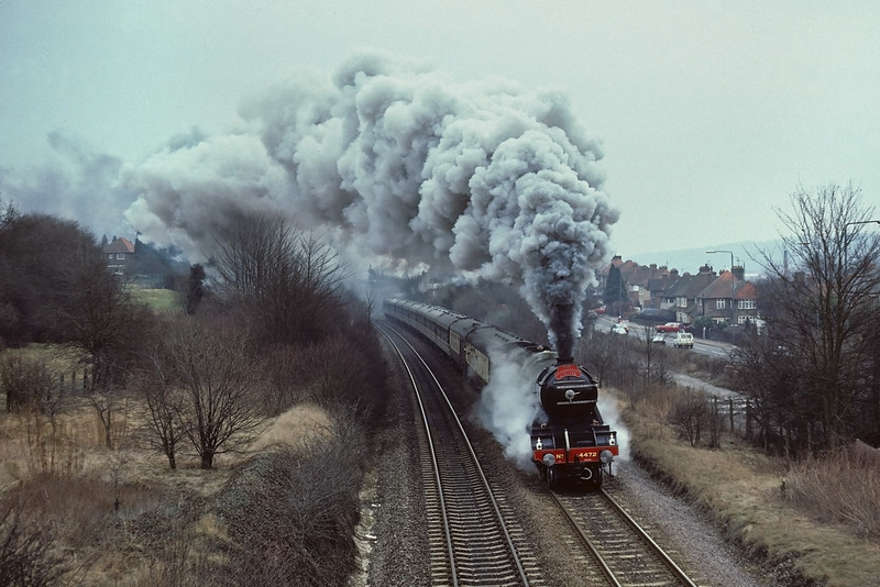 9th Mar '86:  4472 really going for it through West Wycombe